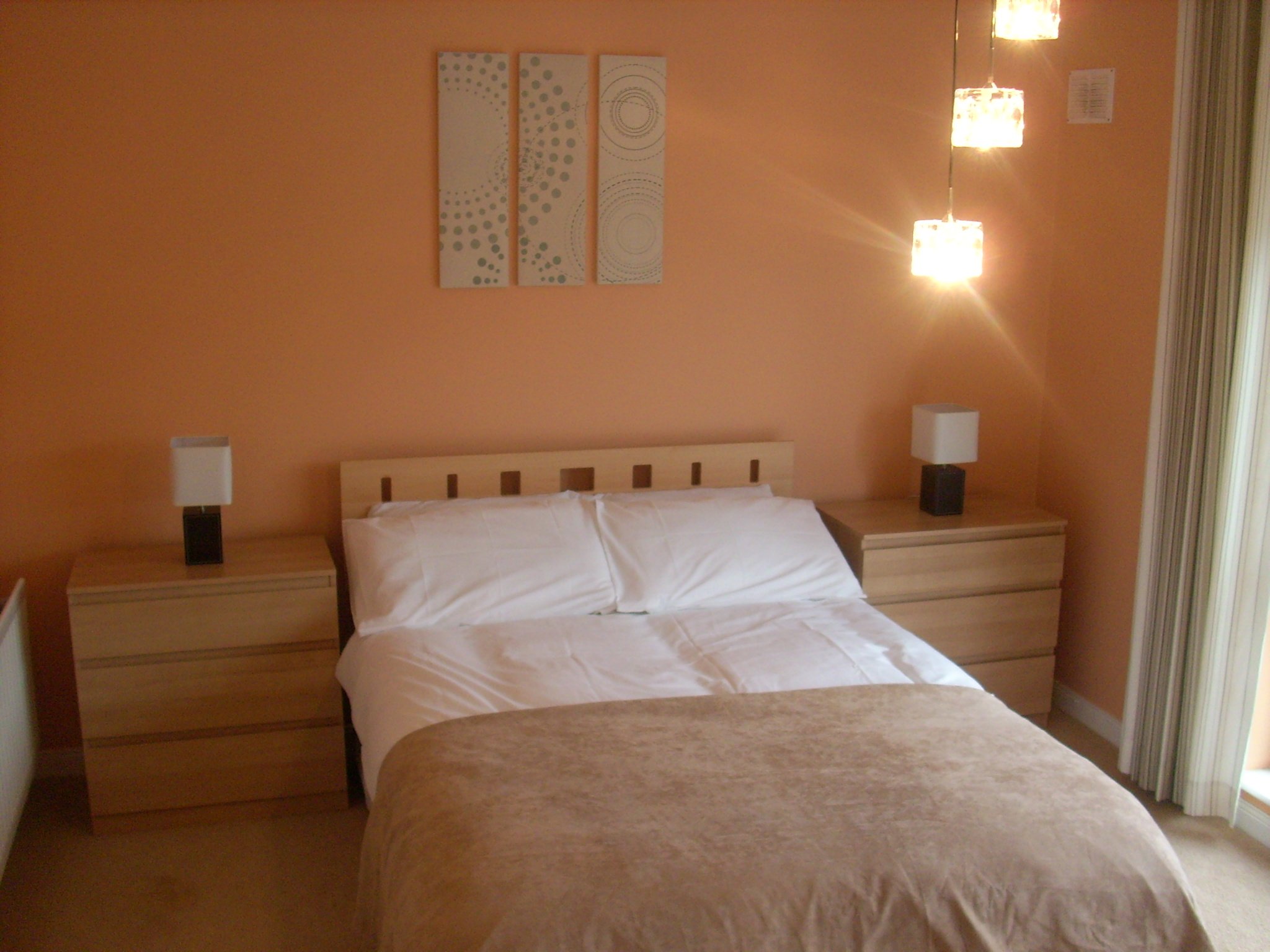 If you re looking for large spacious rooms these are the rooms for you  Beautifully decorated. Peach Bedrooms
